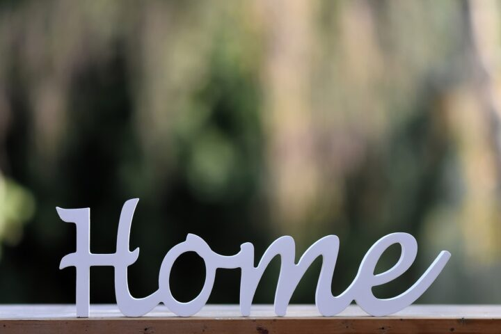 HOMEのテキスト画像