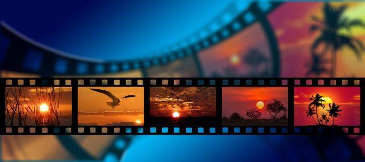 映画フィルムの画像