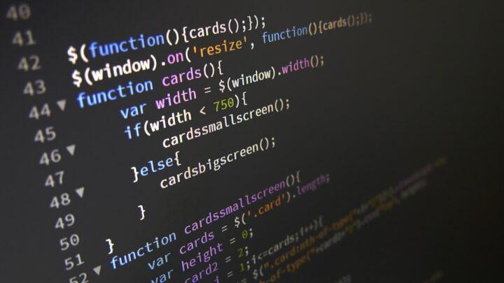 JavaScriptコード画面